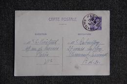 Entier Postal, Type IRIS - Cartes Postales Types Et TSC (avant 1995)