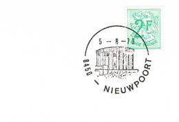 Belgien Sonderstempel König Albert Monument Nieuwpoort - 1973 - Belgien