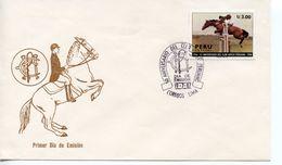 PERU  -  1987 The 50th Anniversary Of Peruvian Horse Club    FDC2492 - Peru