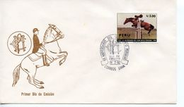 PERU  -  1987 The 50th Anniversary Of Peruvian Horse Club   FDC2495 - Peru