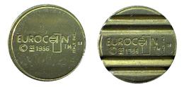 03300 GETTONE JETON TOKEN MACHINE EUROCOIN PAT ITALY MILANO MAGGI CONIATURE 1986 - Unclassified