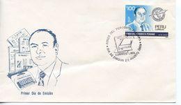 PERU  - 1989 Peruvian Journalists' Fund   FDC2500 - Peru