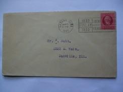 CUBA - 1937 Cover - Havana To Danville Ill. USA - Finlay Slogan Postmark - Cuba