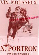 39- LONS LE SAUNIER-BUVARD VIN MOUSSEUX- N. PORTRON  D' APRES TAMAGNO - Alimentaire