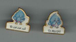 2 Pins Toons Flu - Gripe - - Medical