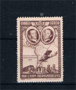 EDIFIL 590 **.  1 PTA CASTAÑO VIOLÁCEO PRO UNIÓN IBEROAMERICANA. - 1889-1931 Reino: Alfonso XIII