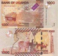 Uganda P-49  1000 Shillings 2010 UNC - Uganda