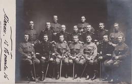SUISSE 1916 CARTE POSTALE  PHOTO  KAV. REKRUTENSCHULE IV AARAU - Régiments
