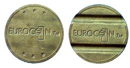 03204 GETTONE JETON TOKEN MACHINE EUROCOIN TM 6 STARS INCUSE - Unclassified