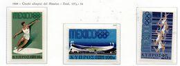 PIA - CIPRO  GRECA - 1968 : Giochi Olimpici Del Messico - (Yv 304-06) - Zomer 1968: Mexico-City