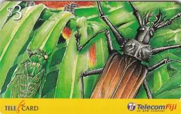 Fiji, FIJ-R-107, $3, 2002 Taveuni Rainforest, Beetle (99247), 2 Scans - Fiji