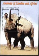 ZAMBIA, 2005, FAUNA, RHINOCEROS, YV#B.112, SS, MNH - Rhinozerosse