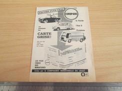 Page De Revue Des Années 60/70 : PUBLICITE MODELE REDUIT CIJ AMI 6 CITROEN ESTAFETTE FLORIDE , Format : 1/4 Page A4 - CIJ