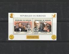 9]  1 Mini-feuillet ** 1 Mini-sheet ** Burundi Louis Pasteur Rage Vaccin Vaccine Nobel (émission IMPRESSOR) - Burundi