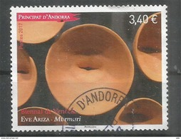 ANDORRA. BIENNAL De VENECIA 2017 (Biennale De Venise) Eve Ariza.Pavilion Of Andorra . Un Timbre Oblitéré, Haute Faciale - French Andorra