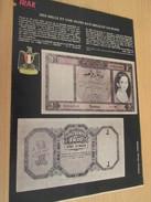 Page De Revue Des Années 60/70 : TINTIN NUMISMATIQUE BILLETS DE BANQUE RARE IRAK , Format : Page A4 - Billets