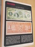 Page De Revue Des Années 60/70 : TINTIN NUMISMATIQUE BILLETS DE BANQUE RARE SALVADOR Pas Henri , Format : Page A4 - Billets