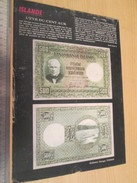 Page De Revue Des Années 60/70 : TINTIN NUMISMATIQUE BILLETS DE BANQUE RARES ISLANDE   Format : Page A4 - Billetes