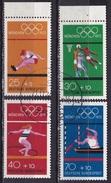 BRD 1972 Olympische Sommerspiele 1972 München Kompletter Gestempelter Satz Von Blockausgabe Michel 734 / 737 - Gebruikt