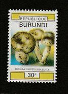 9] 1 Timbre 1 Stamp ** 2 SCANS Burundi Champignon Mushroom Couleurs Manquantes Missing Colours - Burundi