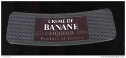 Etiquette  De  Crème De Banane - Labels
