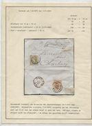 TP 28-32 S/L.recommandée Griffe Encadrée C.BXL 19/11/1879 V.Charleroi C.d'arrivée 1223 - 1869-1883 Leopoldo II