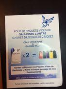 GAULOISES-PUBLICITE PAPIER-GAGNEZ 5 BRIQUETS - Objets Publicitaires
