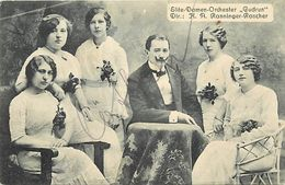 - Themes Div- Ref V363- Spectacle -carte Allemande - Allemagne - Elite Damen Orchester Gudrun -dir H A Ranninger Roscher - Non Classificati