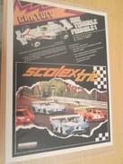 Page De Revue Des Années 60/70 : PUBLICITE CIRCUIT ELECTIQUE SCALEXTRIC  Format : Page A4 - Circuits Automobiles
