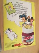 Page De Revue Des Années 60/70 : PUBLICITENUTELLA CUBITUS MAX MODESTE ET POMPON MINI BD  Format : Page A4 - Nutella