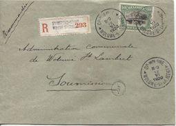 TP 143 S/L.Recommandée Pour Une Soumission C.Woluwé St.Lambert 12/6/1920 Sceau De Cire Au Verso V.Adm.Communale 1226 - Briefe U. Dokumente