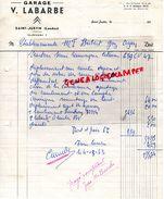 40- SAINT JUSTIN- RARE FACTURE GARAGE V. LABARDE- 1963 - Cars