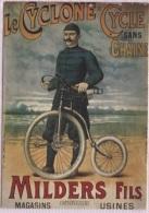 CPM - PUB NOS CYCLISTES - LE CYCLONE MILDERS Fils  - Edition Nugeron F. - Werbepostkarten