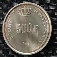 BELGIUM/BELGIE 500 FRANCS 1990 --SILVER/ARGENT - 1951-1993: Baudouin I