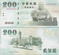Taiwan 2001 - 200 Yuan - Pick 1992 UNC - Taiwan