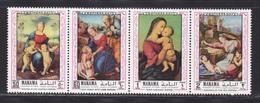 MANAMA AERIENS N°   44 ** MNH Neufs Sans Charnière, 4 Valeurs, TB  (D3604) Journée Des Mères, Tableaux De Raphael - Manama
