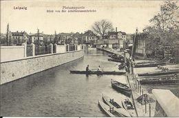 LEIPZIG , Pleissenpartie , Blick Von Der Arndstrassenbrücke , CPA ANIMEE - Leipzig