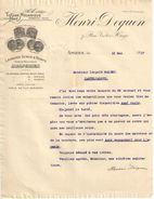 Ancienne Lettre Commerciale / Tissage Mécanique/Draperies/AMIENS/ Maretz/Nord/ Henri DEQUEN/1917              FACT250 - Textile & Vestimentaire