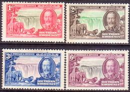 SOUTHERN RHODESIA 1935 SG 31-34 Compl.set MH CV £28 Silver Jubilee Gum Disturbance On 2d And 3d - Southern Rhodesia (...-1964)