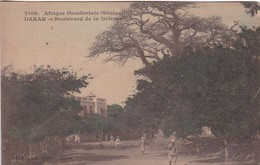 SENEGAL, DAKAR. BOULEVARD DE LA DEFENSE.COIL GENER FORTIER. E LA DELEY. CIRCULEE BORDEAUX TO ARGENTINE-BLEUP. - Senegal