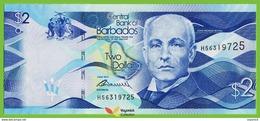 Voyo BARBADOS 2 DOLLARS 2013 P73  B232a Prefix H56 UNC Windmill - Barbados