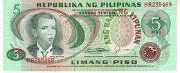 Philippines P.160d  5 Piso  1978  Unc - Filippine