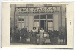 DEVANTURE DE CAFE - CAFE MASSAT - Carte Photo Non Située (peut-être Département 09) - Cafés