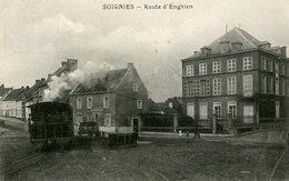 SOIGNIES - Route D'Enghien - Tram (petit Pli Inférieur Droit) - Soignies