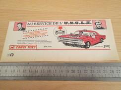 Page De Revue Des Années 60/70 : PUBLICITE  CORGY TOYS  AU SERVICE DE L'UNCLE  Format  VOIR REGLE SUR PHOTO - Corgi Toys