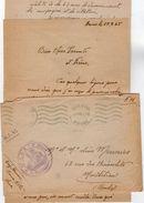 VP11.824 Guerre 39 / 45 - Lettre Avec Franchise Militaire Du Brigadier MEUNIER Au 64 ème R.A.A à NEVERS Pour MONTBELIARD - Documents