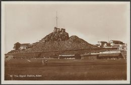 The Signal Station, Aden, C.1920s - Pallonjee, Dinshaw & Co RP Postcard - Yemen