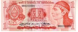 Honduras P.68b 1 Lempira 1989   Xf - Honduras