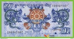 Voyo BHUTAN 1 Ngultrum 2013 P27b B216b UNC Dragon Prefix I - Bhutan