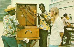 Curacao (Netherlands Antilles, Antille Olandesi) Organ Players Welcoming Tourist Steamer On Pier - Curaçao